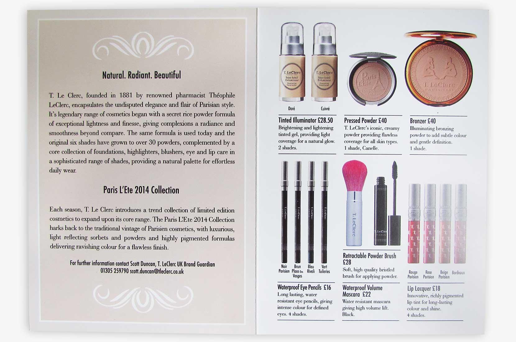 T. Leclerc Paris 1881 beauty cards – Brand+Soul – Brand Strategy   Logo & Identity Design   Brochure Catalogue & Direct Mail   Marketing   Web & Digital