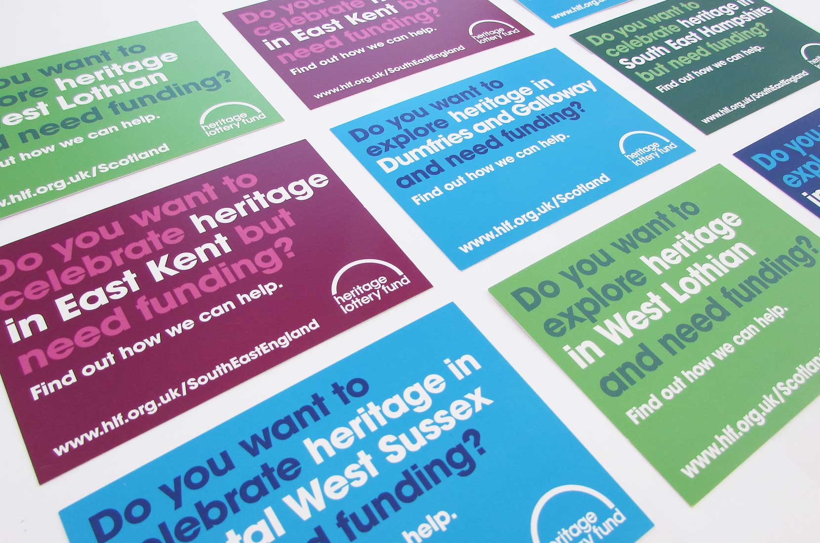 Heritage Lottery Fund Postcards