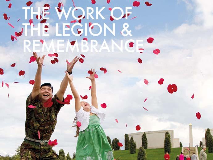 Royal British Legion man and girl catching poppies | Graphic Design, Branding, Identity