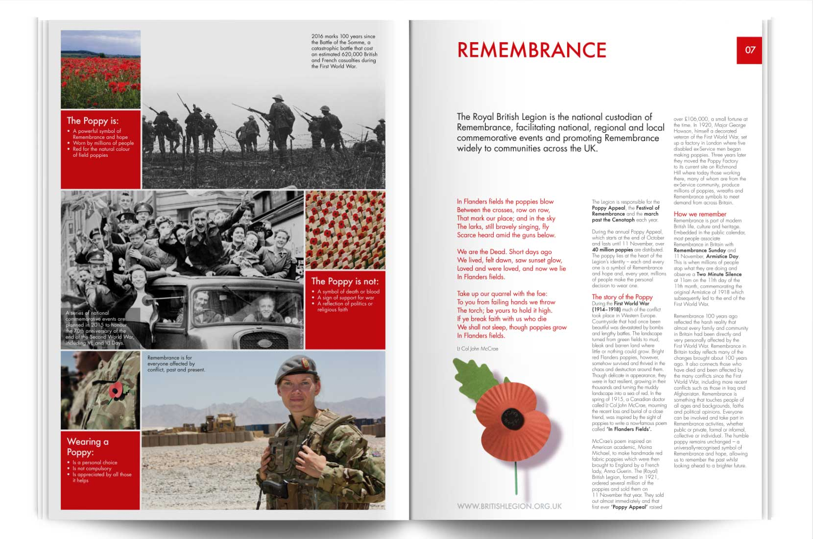 Royal British Legion learning resource – Brand+Soul | Graphic Design, Branding, Identity