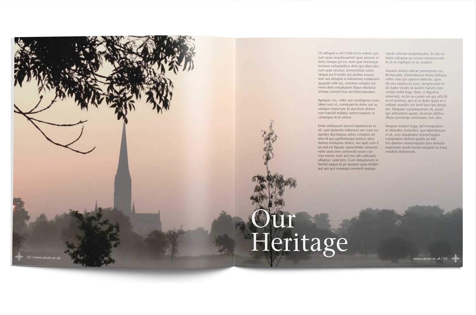 Sarum College Course Programme – Our heritage spread with Salisbury Cathedral