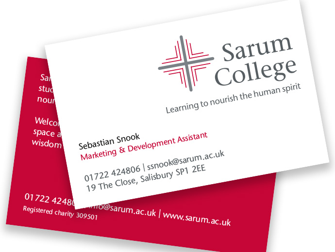 Sarum College Business Cards