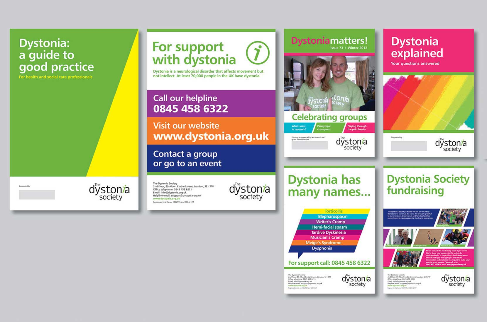The Dystonia Society materials