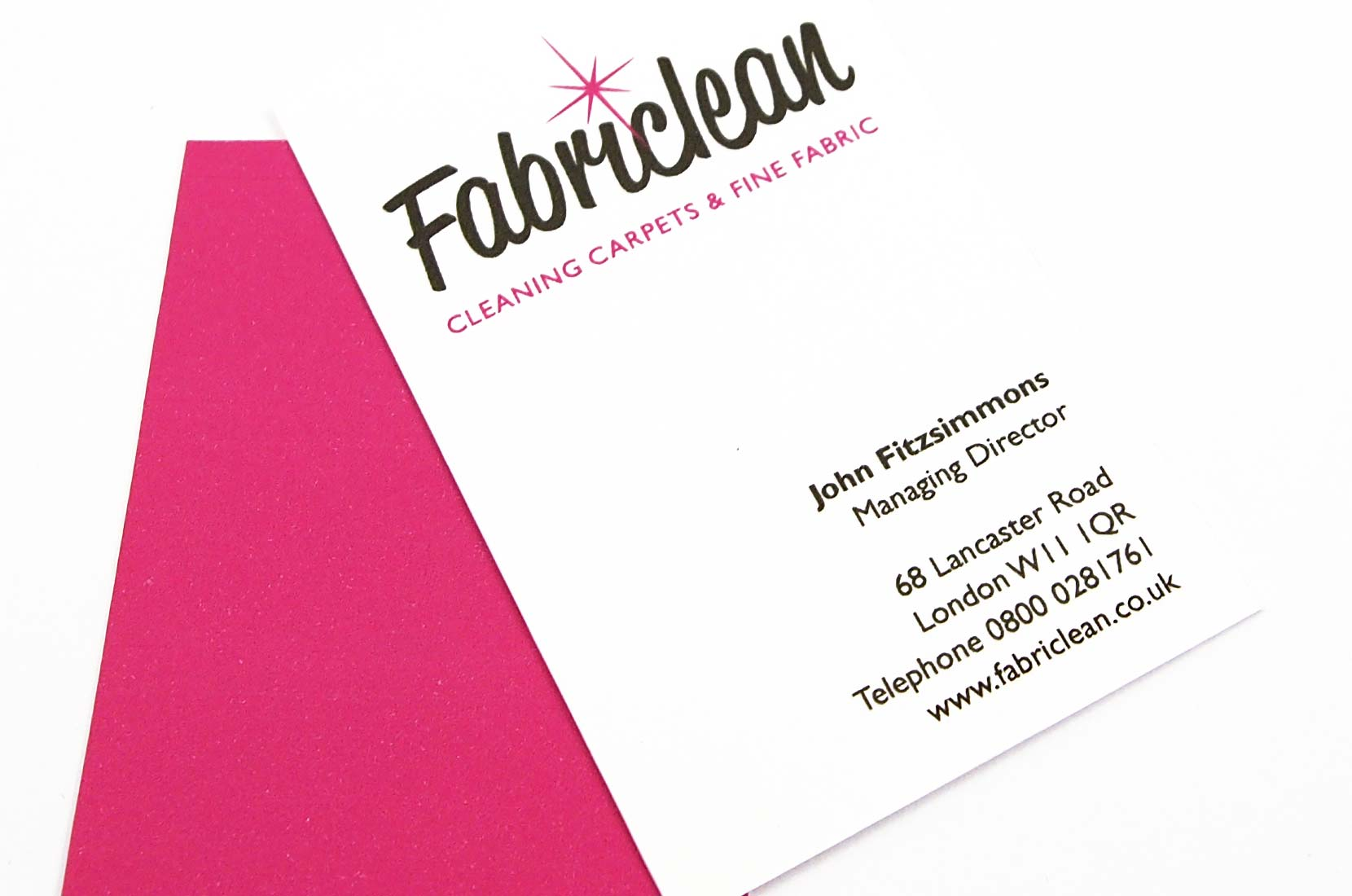 Fabriclean Business Cards