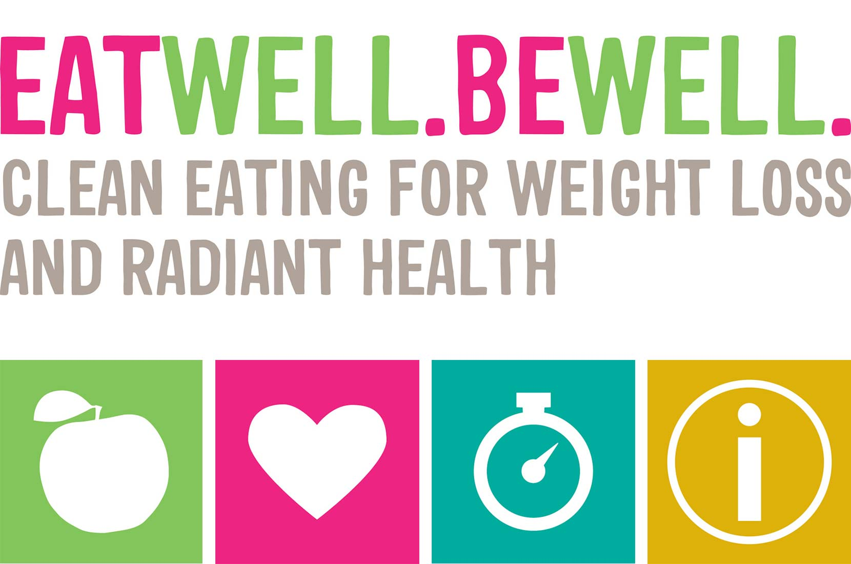Eat Well. Be Well. Logo