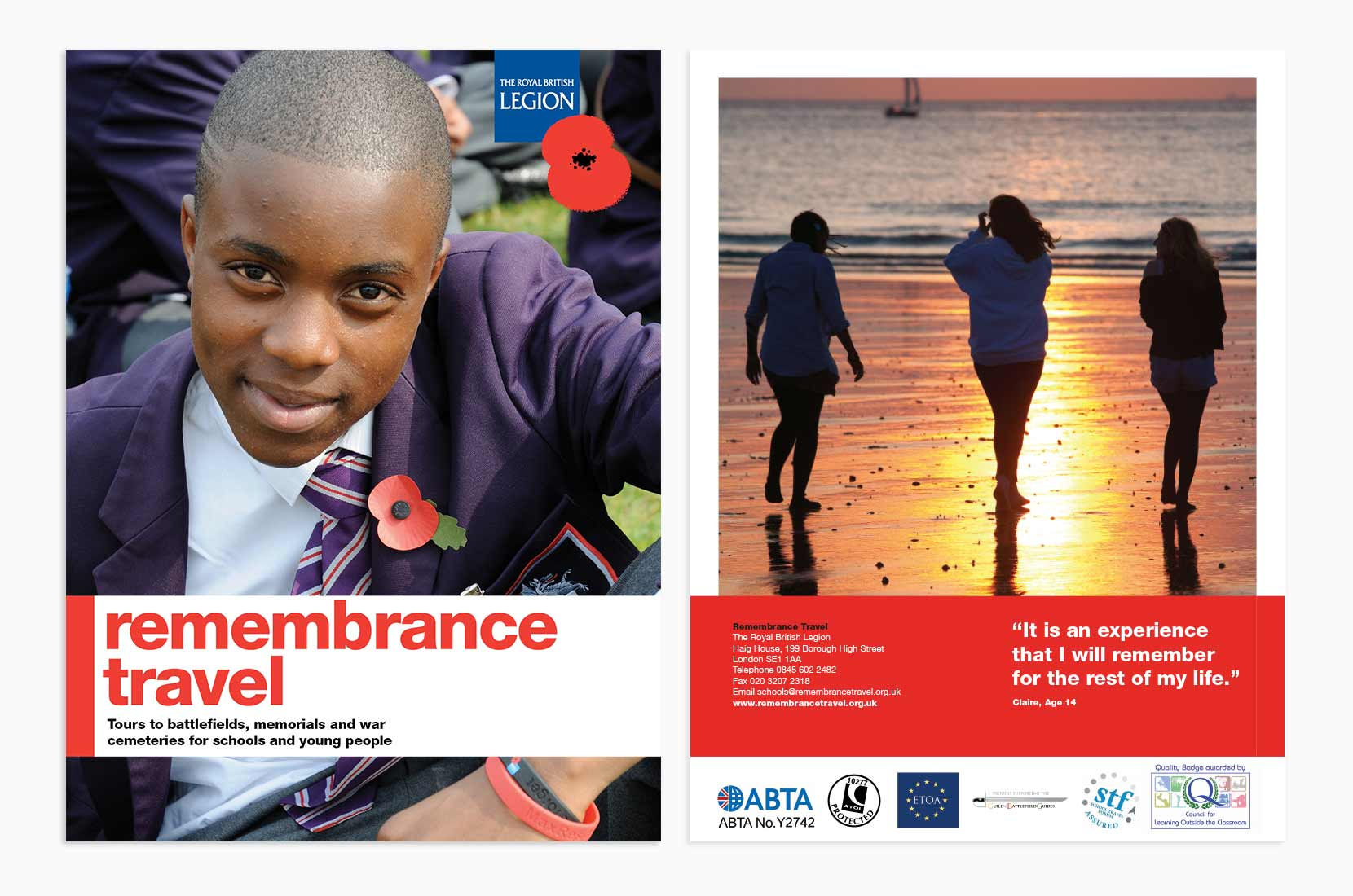 Remembrance Travel Cover Artwork