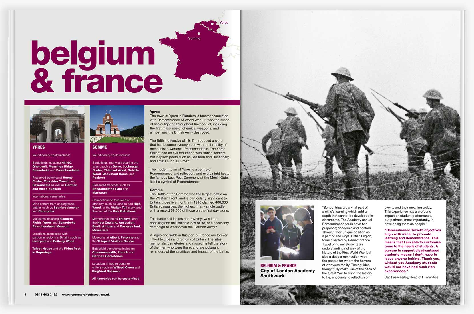 Remembrance Travel – Belgium & France learning resource spread