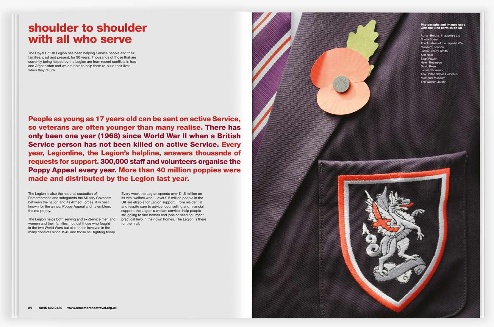 Royal British Legion – Poppy learning resource spread