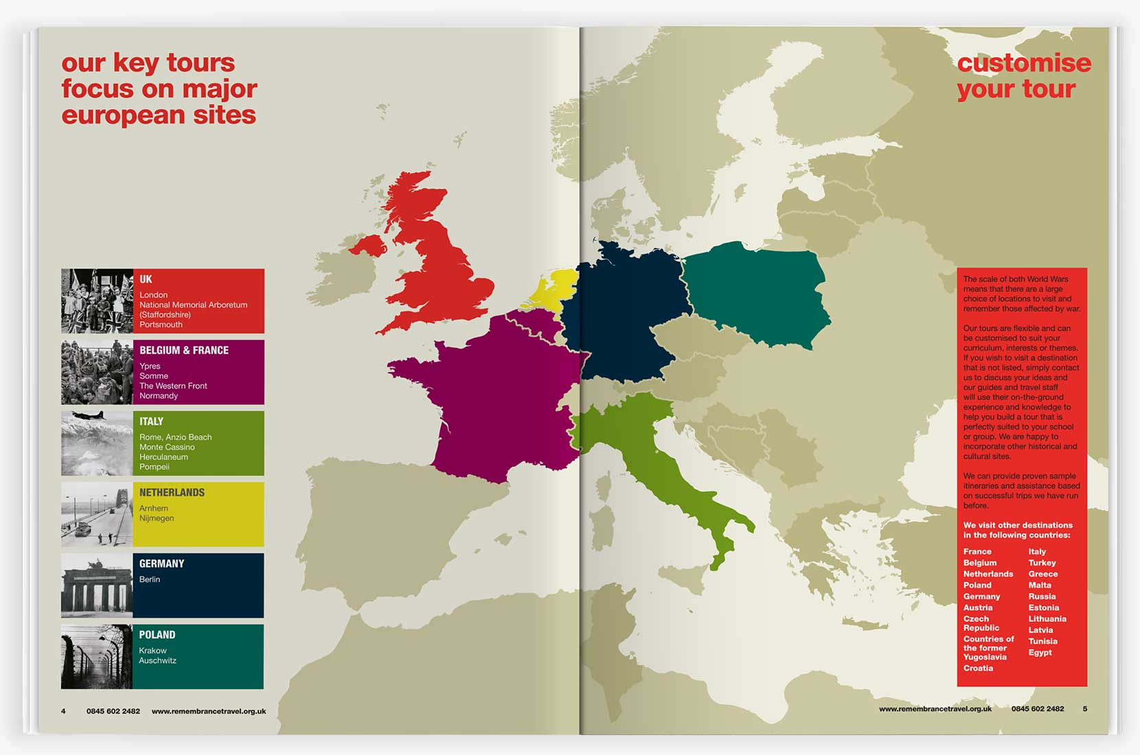 Royal British Legion learning resource spread with map of Europe | Graphic Design, Branding, Identity