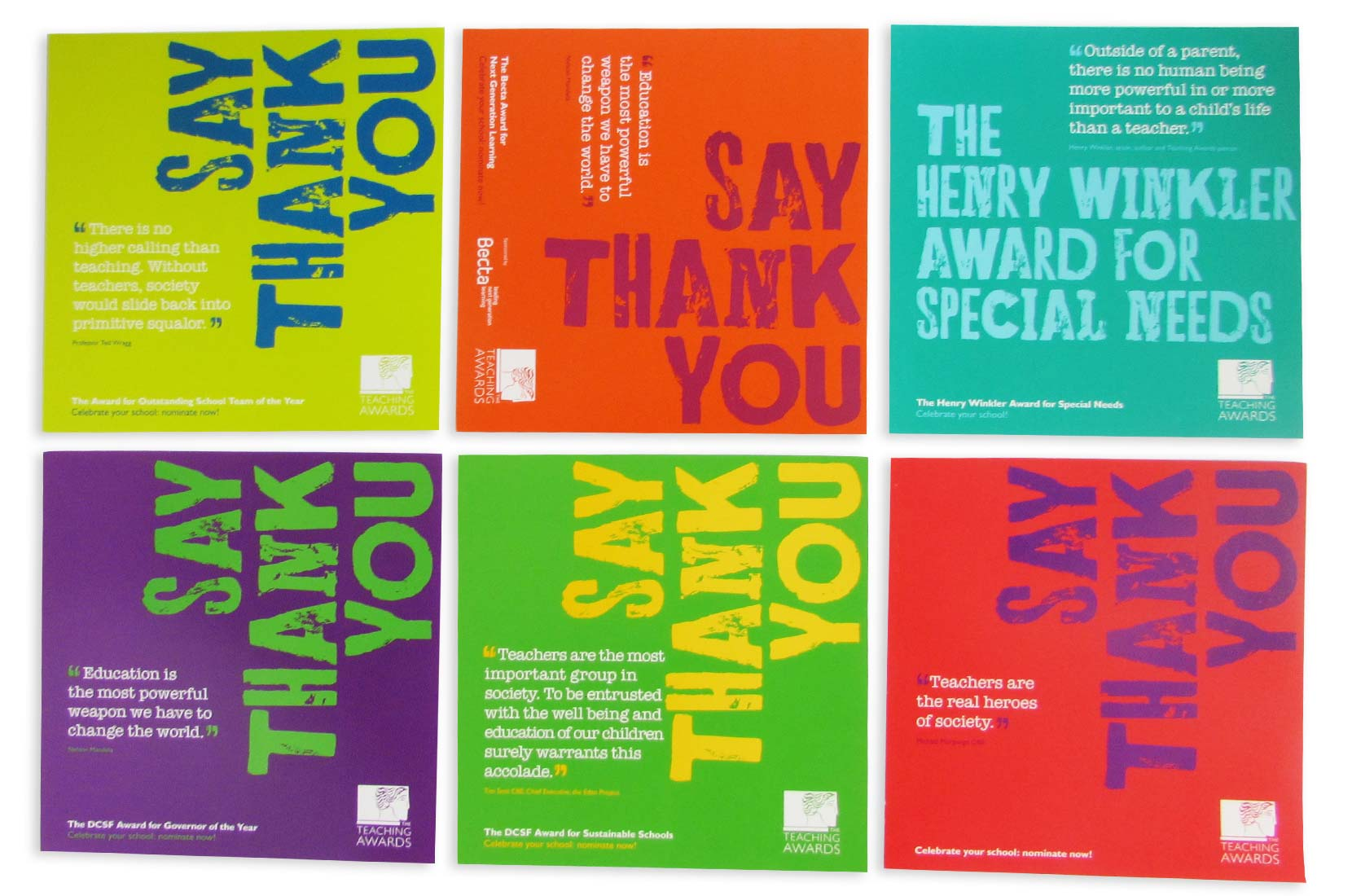 The Teaching Awards Cards