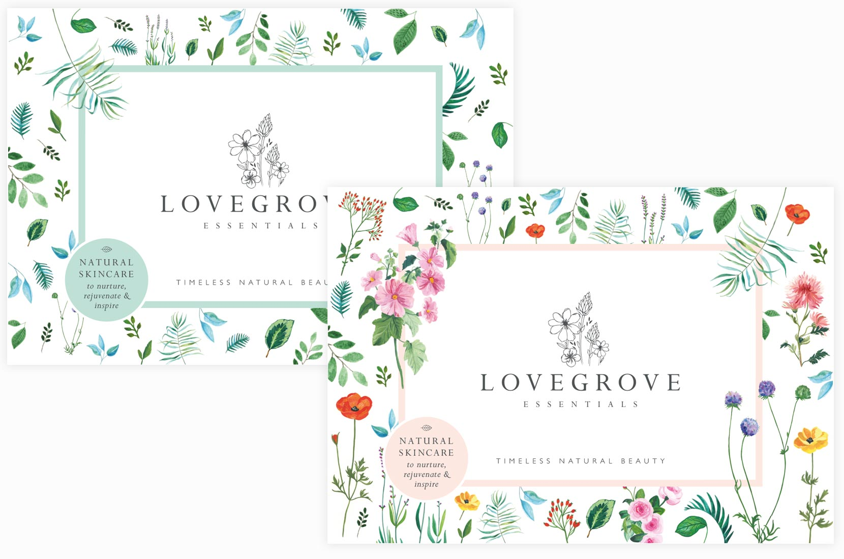 Love grove retail and professional brochures