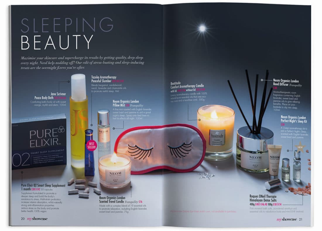 MyShowcase Sleeping Beauty Spread – Brand+Soul – Brand Strategy | Logo & Identity Design | Brochure Catalogue & Direct Mail | Marketing | Web & Digital
